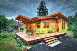แบบบ้านไม้ชั้นเดียว 2 ห้องนอน 1 ครัว