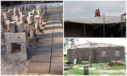 """จากผืนดินว่างเปล่า ปั้นและสร้าง """"บ้านดิน"""" จนกลายเป็นบ้านในฝันของตัวเอง"""