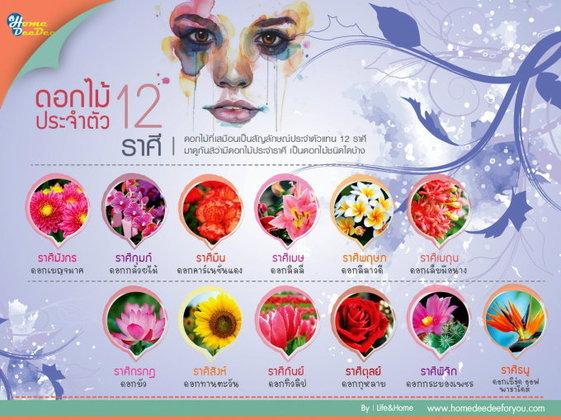 ดอกไม้ประจำตัว 12 ราศี