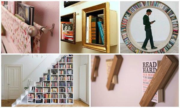 ไอเดียชั้นวางหนังสือสุดเจ๋ง ประหยัดพื้นที่ ทำได้หลายหน้าที่