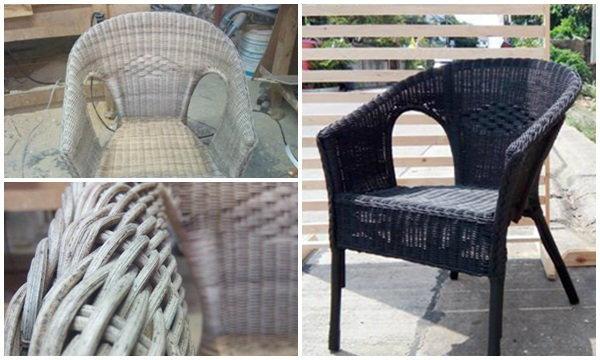 DIY เก้าอี้หวายเก่า เอามาทำใหม่