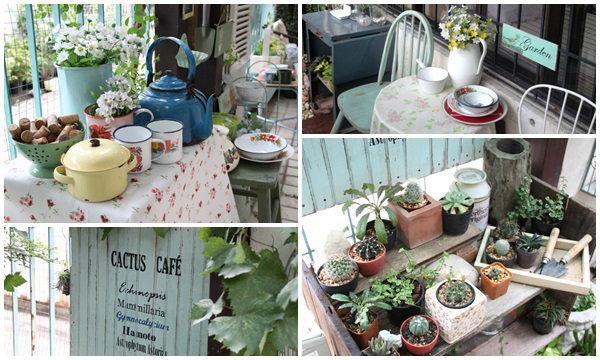 สวนเล็ก ๆ ริมรั้ว ตอน แบ่งปันเรื่องซน ๆ ในสวน และอวดสวนโซนใหม่....Cactus Cafe
