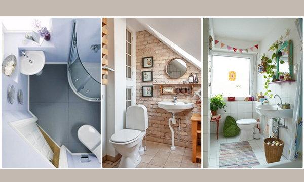 20 ห้องน้ำขนาดเล็ก ที่ความสวยไม่เล็กตาม
