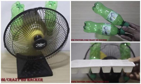 เปลี่ยนพัดลมให้เย็นเหมือนแอร์ได้ง่าย แค่มีพัดลมกับงวดพลาสติก