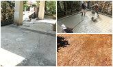 Renovate โรงรถ และสวน ให้กลายเป็นพื้น Stamp Concrete ครับ
