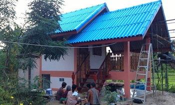 รีวิวบ้านกระท่อมปูนหลังน้อย แสนสุขใจรวม ๆ ประมาณ 160,000 บาท พร้อมรายละเอียดค่าใช้จ่าย