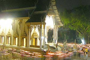 พิธีเวียนเทียนในวันสำคัญทางพระพุทธศาสนา