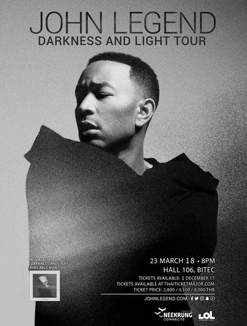JOHN LEGEND DARKNESS AND LIGHT TOUR LIVE IN BANGKOK