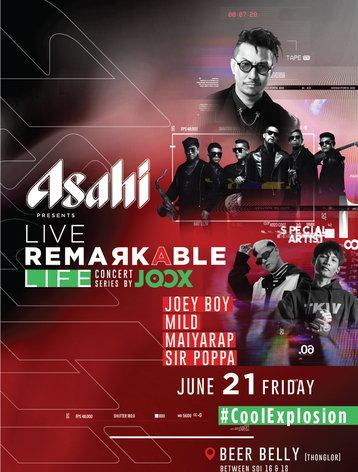 "ASAHI Presents ""Live Remarkable Life"" Concert Series by JOOX"