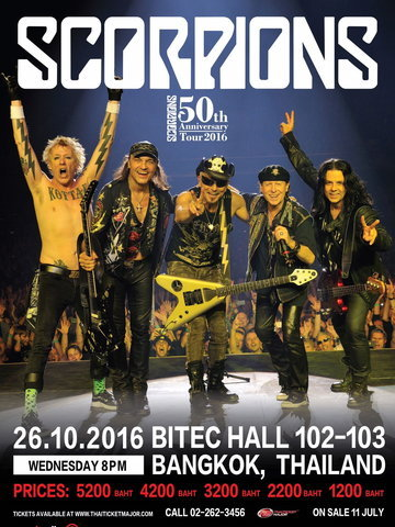 Scorpions 50th Anniversary Tour Live in Bangkok 2016