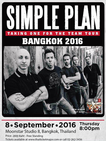 SIMPLE PLAN TAKING ONE FOR THE TEAM TOUR BANGKOK 2016