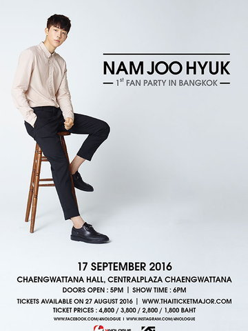 NAM JOO HYUK 1st FAN PARTY IN BANGKOK