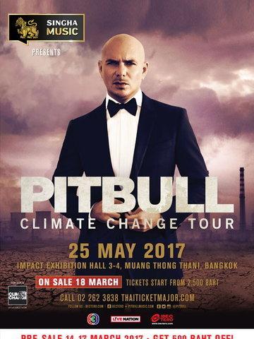 Singha Music Presents Pitbull Climate Change Tour Live in Bangkok 2017