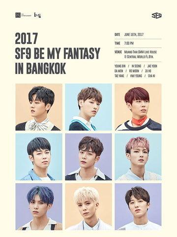 2017 SF9 BE MY FANTASY in Bangkok