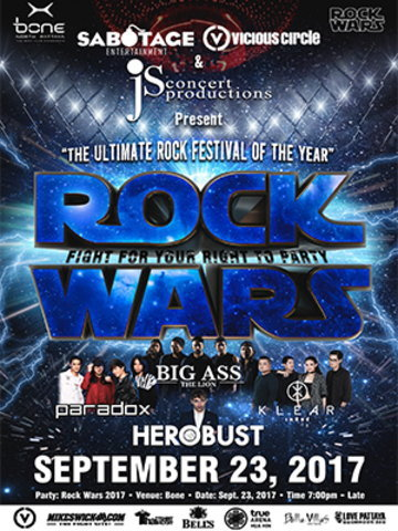 Rockwars - The Ultimate MMA Fight & Rock Concert Of the Year