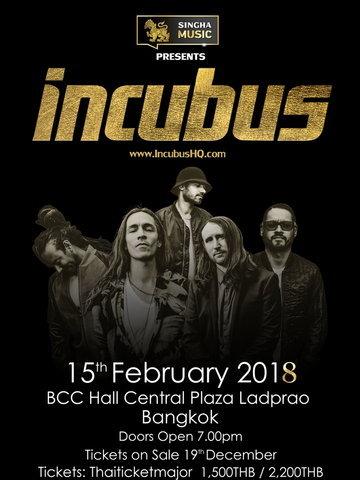 Singha Music presents Incubus Live in Bangkok 2018