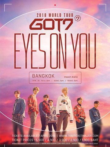 GOT7 2018 WORLD TOUR 'EYES ON YOU' IN BANGKOK