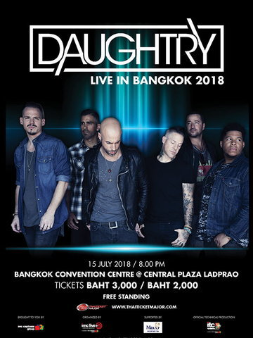 DAUGHTRY LIVE IN BANGKOK 2018