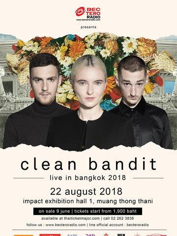 BEC-TERO RADIO presents Clean Bandit Live in Bangkok