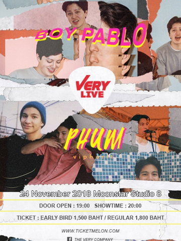 VERY Live : Boy Pablo&Phum Viphurit