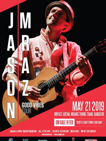 JASON MRAZ GOOD VIBES TOUR