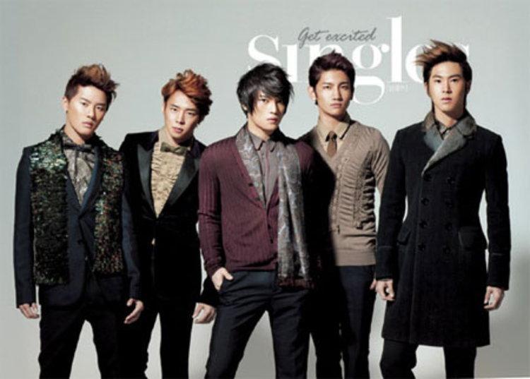 ดงบังชินกิ เปิดตัวอัลบั้มภาพการกุศล off stage ในนิตยสาร Singles