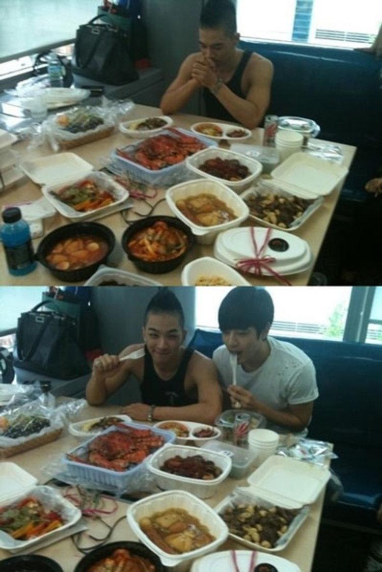 แทยัง และ เซเว่น เผยภาพอภิมหาเซ็ตอาหารกลางวันที่ชาว VIP ส่งมาให้