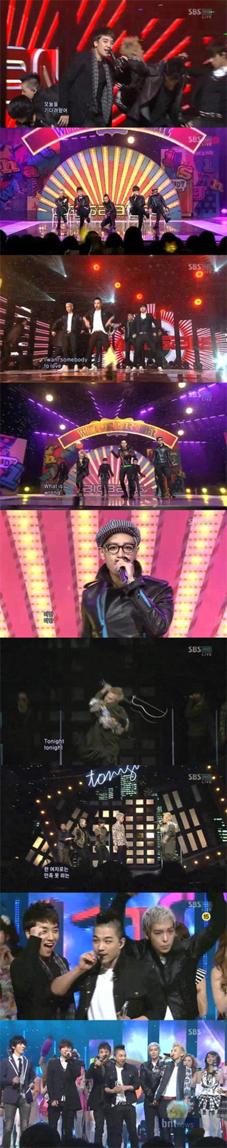 บิ๊กแบง (BIGBANG) ส่งคว้า No.1 SBS Ingygayo