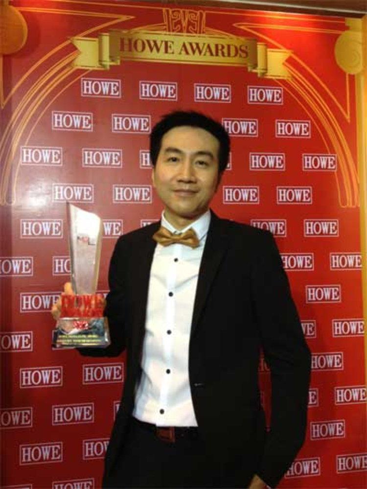 สถาพร บอสใหญ่ จีเอ็มเอ็ม ทีวี รับรางวัล HOWE Media Elite Award