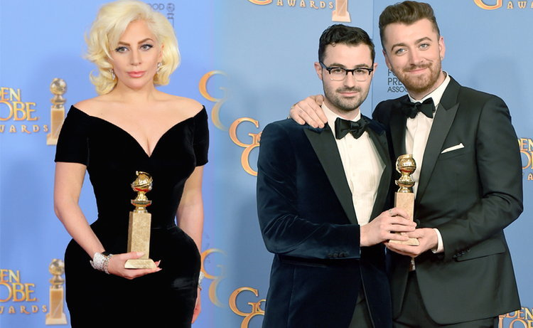แรงตั้งแต่ต้นปี! Lady Gaga, Sam Smith คว้ารางวัล Golden Globes 2016