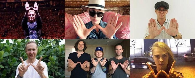 Adele, Lady Gaga และคนอื่นๆ เขาทำสัญลักษณ์อะไรกัน?