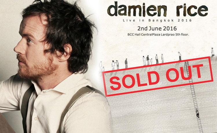 หมดเกลี้ยง! Damien Rice Live in Bangkok 2016 บัตร SOLD OUT ภายในไม่กี่นาที