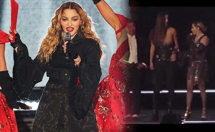 ขุ่นแม่เล่นแรง! Madonna กระตุกเสื้อแฟนคลับ โชว์อกกลางเวที