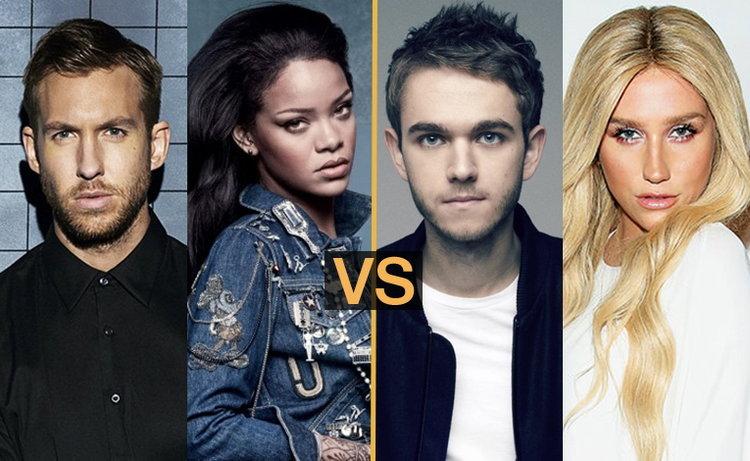 ศึก EDM เดือด! Calvin Harris x Rihanna ปะทะ Zedd x KE$HA