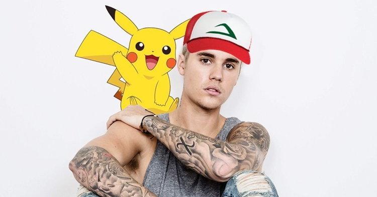 Justin Bieber เล่น Pokémon Go กับฝูงชนในสวนสาธารณะ