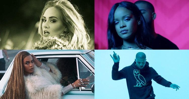รายชื่อศิลปินเข้าชิง MTV Video Music Awards 2016