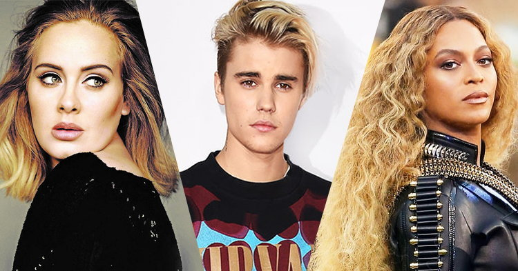 Justin Bieber, Adele, Beyoncé ชิงศิลปินแห่งปี ใน American Music Awards 2016