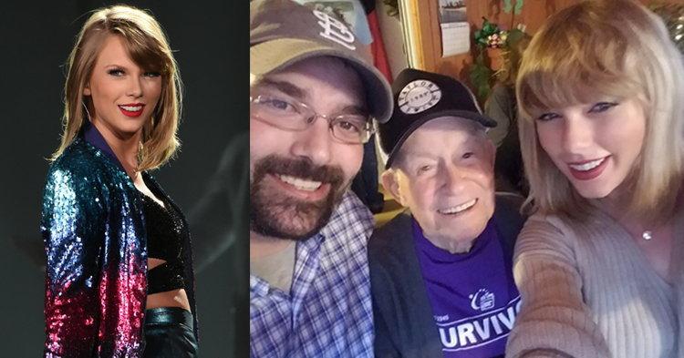 น่ารักมาก! Taylor Swift โผล่เซอร์ไพรส์แฟนคลับวัย 96 ปี ถึงบ้าน