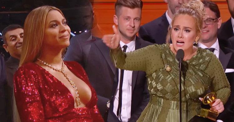 Adele ทำซึ้ง ชื่นชม Beyonce จนน้ำตาไหลในงาน Grammys 2017