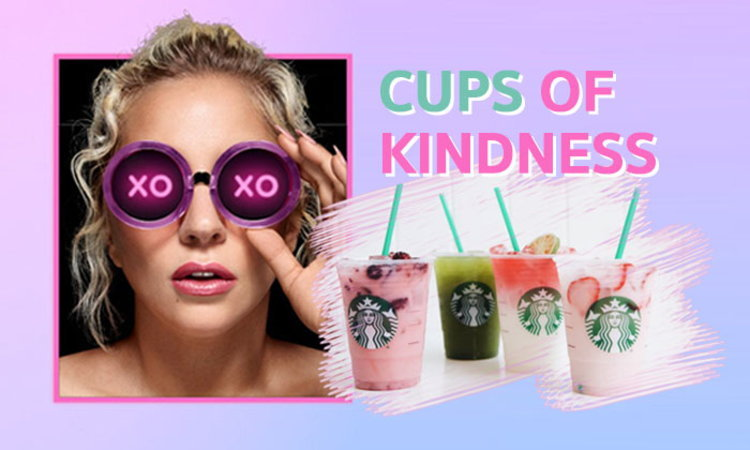 "Lady Gaga จับมือ Starbucks ออกเครื่องดื่มสีหวาน ""Cups of Kindness"""
