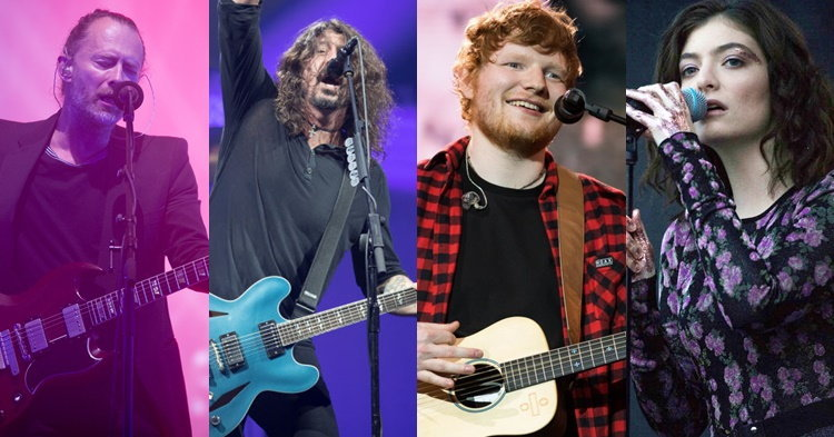 Ed Sheeran, Lorde, Radiohead, Foo Fighters นำทีมจัดหนัก Glastonbury 2017