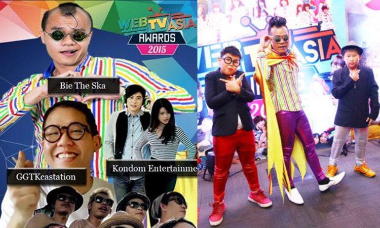 """บี้ เดอะสกา โกอินเตอร์คว้ารางวัล """"Thailand most popular channel"""""""