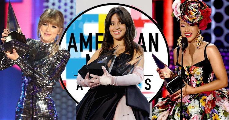 Taylor Swift, Camila Cabello, Cardi B รวมพลังหญิงคว้ารางวัล American Music Awards 2018