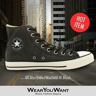Converse All Star Stone Washed Hi-Black