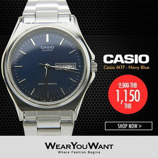 นาฬิกา Casio MTP - Navy Blue