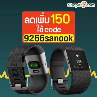 สายรัดข้อมือเพื่อสุขภาพ Fitbit Flex Wireless Activity & Sleep Wristband Surge Black