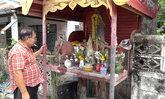 เหลือแค่รอยฐาน-โจรใจบาปขโมยพระพุทธรูปกลางหมู่บ้าน  เผย 1 สัปดาห์ถูกขโมยไปถึง 2 องค์