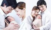 """""""แนท ณัฐชา"""" กับภาพครอบครัวภาพแรก """"น้องเรม่า"""" ดั้งโด่งน่ารักมาก"""