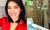 """""""นิ้ง กุลสตรี"""" เผยภาพนอนรักษาตัวที่โรงพยาบาล แฟนๆ พากันส่งความคิดถึง"""